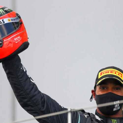 Photo Story – Hamilton pays emotional tribute to Schumacher on record-day