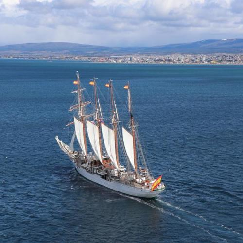 Photo Story:  Spanish training ship Elcano in Chile to celebrate 500 years of the passage through Magellan