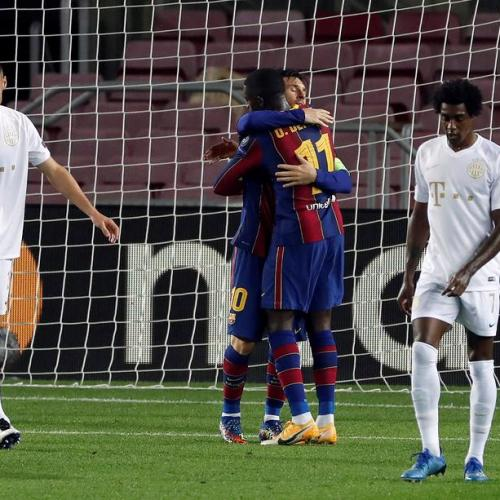 Lionel Messi scores in 16 consecutive Champions League seasons