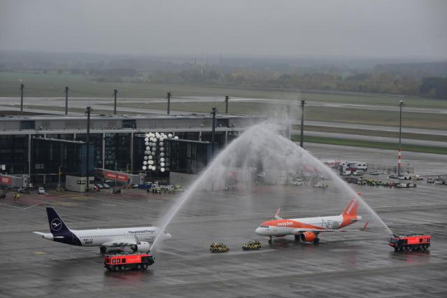 First planes land at Berlin's delayed new airport