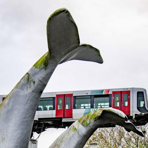 Photo Story: Metro shoots through stop block in Spijkenis, The Netherlands