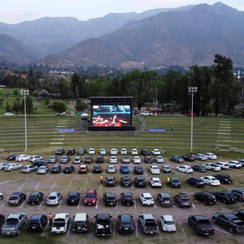 Photo Story: The drive-in movie theatre returns to Santiago