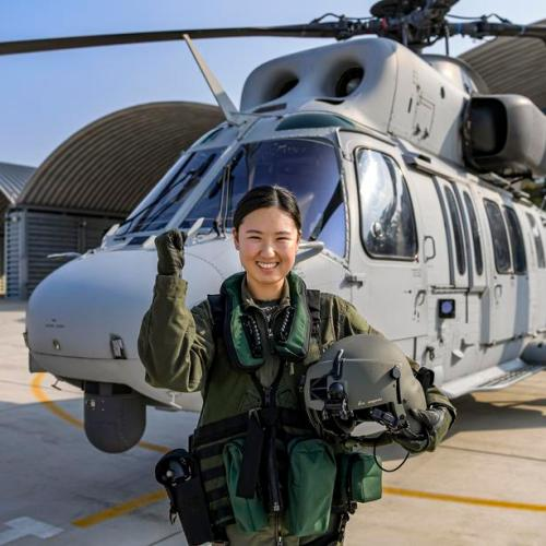 Photo Story: First female helicopter pilot for South Korean Marines