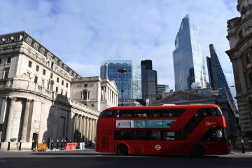 UK inflation jumps past Bank of England target, hits 2.1%