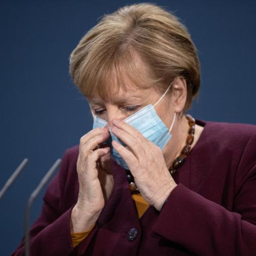 Car with anti-globalisation message crashes into Merkel's chancellory