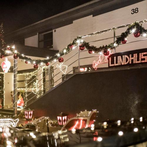 Photo story: Christmas lights lit in Lundhusvej, in Vejle, Denmark