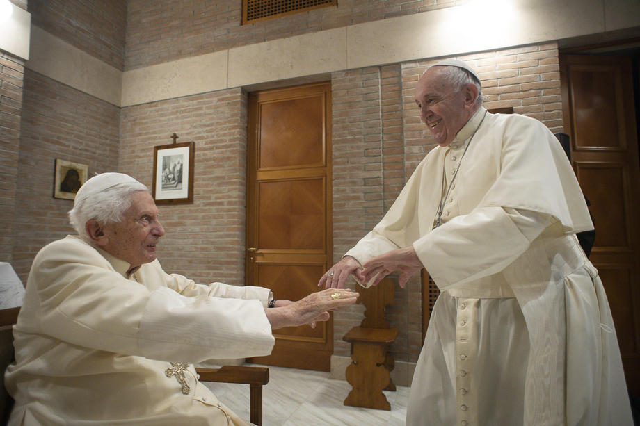 """""""There is only one Pope""""- Pope Emeritus Benedict XVI"""