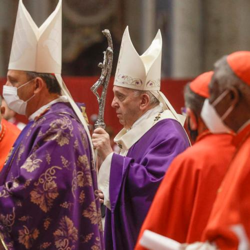 Pope Francis and the new Cardinals concelebrate Mass on the First Sunday of Advent