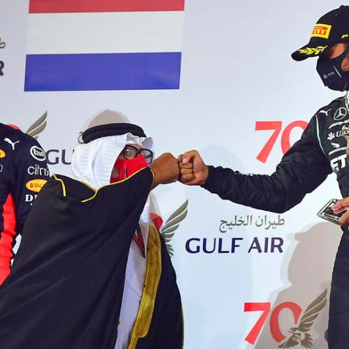 Hamilton wins crash-marred Bahrain Grand Prix