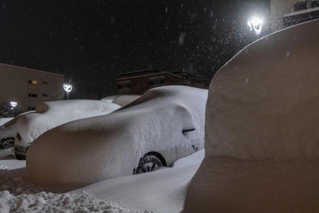 Photo Story: Heavy snowfall in St. Moritz