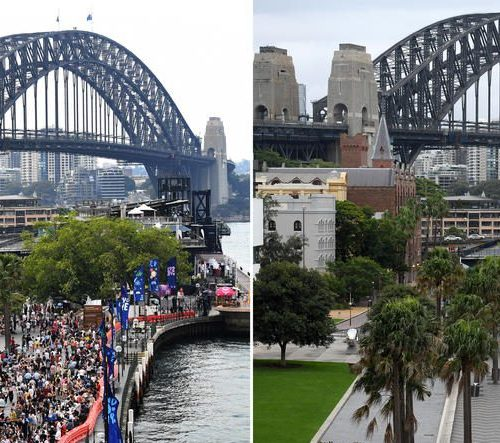 Photo Story: Crowd-free Sydney on New Year's Eve celebrations