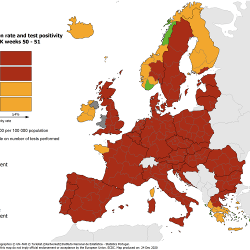 Most European countries register stabilisation and reduction of new cases
