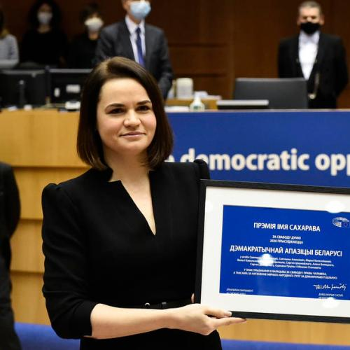 Belarus Opposition leader awarded Sakharov Human Rights Prize