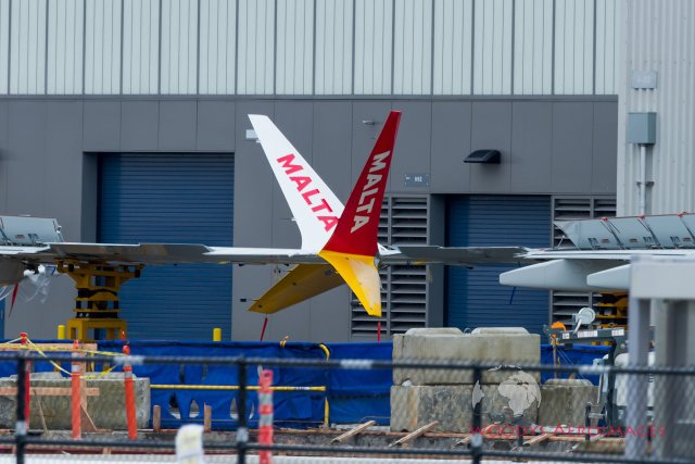 First MaltaAir Boeing 737 Max spotted in Washington