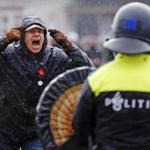 Protest in Amsterdam against Dutch coronavirus lockdown