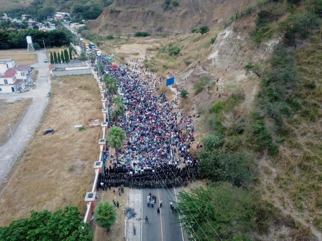 'We're starving': U.S.-bound migrant caravan hunkers down after Guatemala crackdown