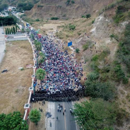 'We're starving': U.S.-bound migrant caravan hunkers down after Guatemala crackdown