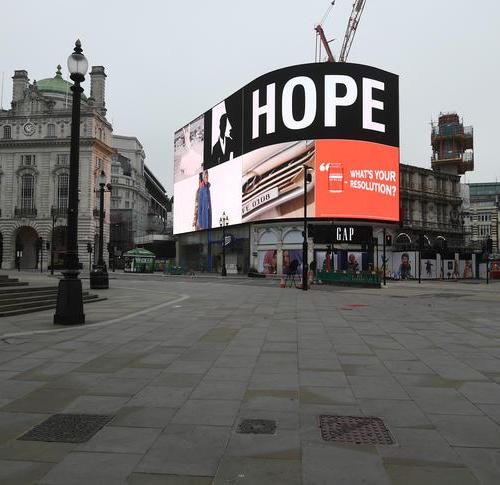 Photo Story: Hope reigns in Piccadilly Circus