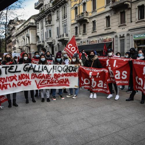 Photo Story: Workers in the hotel sector protest in Milan