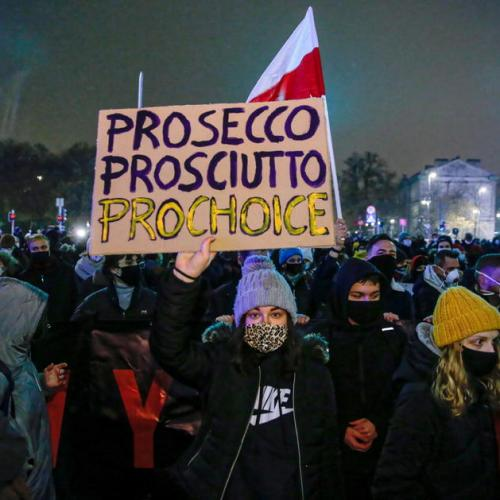 Photo Story: Women's Strike against the tightening of the abortion law in Warsaw