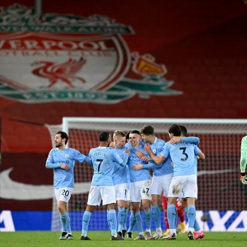 Manchester City open five-point lead at top of Premier League