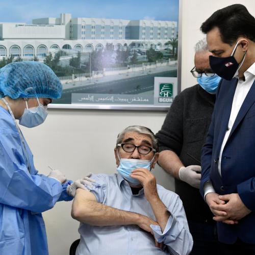 Lebanon starts its COVID-19 vaccination drive