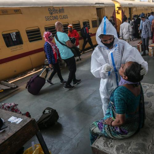 India virus infections at three-week high
