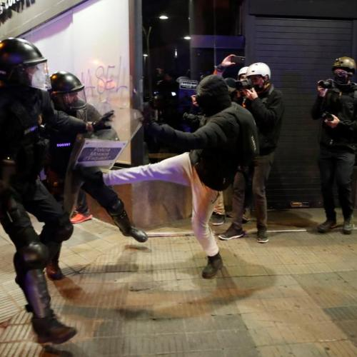 Photo Story: Another night of protests in Spain