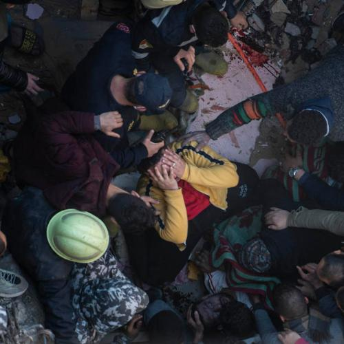 Photo Story:  Building collapse in Egypt's Cairo leaves several dead