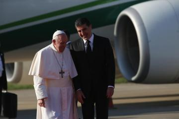 Pope Francis visits regions of Iraq once held by ISIS