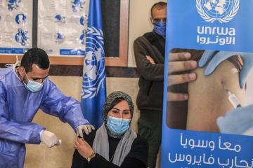 Palestine's vaccine rollout criticised as footballers and ministers get VIP treatment