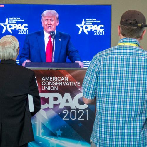 Trump repeats election lies and hints at 2024 run