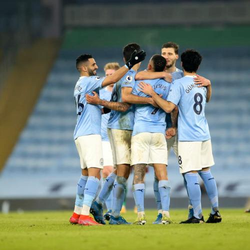 Jesus hits double as rampant Man City go 15 points clear with Wolves win