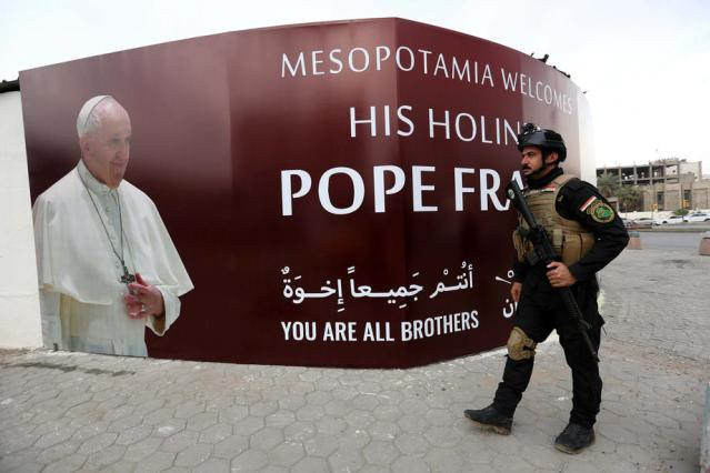 Pope Francis leaves Rome to start historic pilgrimage in Iraq
