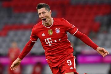 Lewandowski equals Gerd Mueller's 40-goal season record from 1971/72
