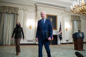 Kamala Harris rarely seen in public with Joe Biden any more as he flounders in polls