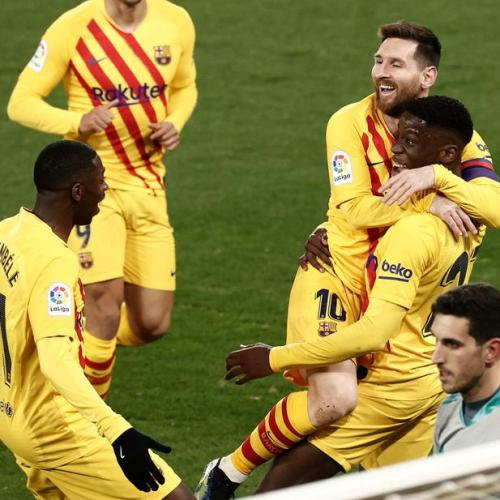 Messi grabs two assists as Barcelona march on with victory at Osasuna