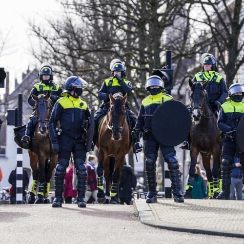 Dutch police break up anti-lockdown protest ahead of election