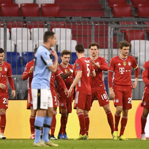 Bayern complete job against Lazio to ease into last eight