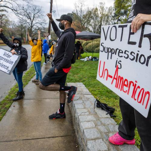 Photo Story – Voting rights advocates demonstrate in Atlanta