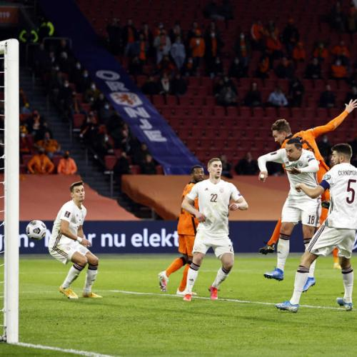Netherlands beat Latvia for first points of World Cup qualifying campaign