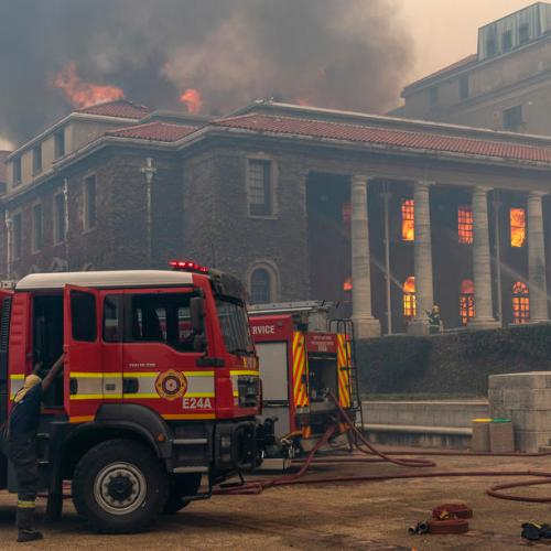 Photo Story: Fire at University of Cape Town