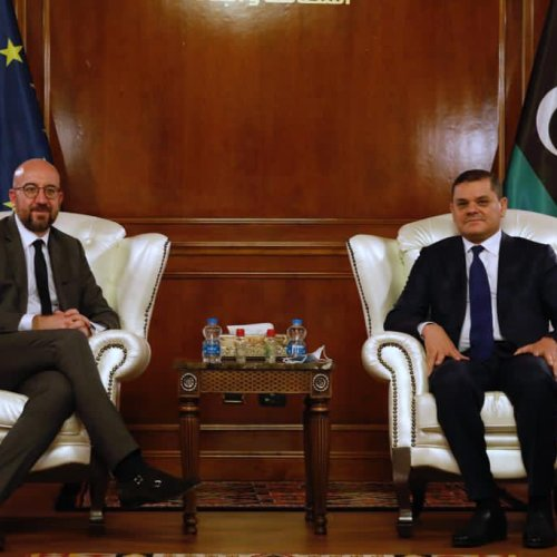 Migration on Agenda in surprise visit by EU Council President Charles Michel to Tripoli