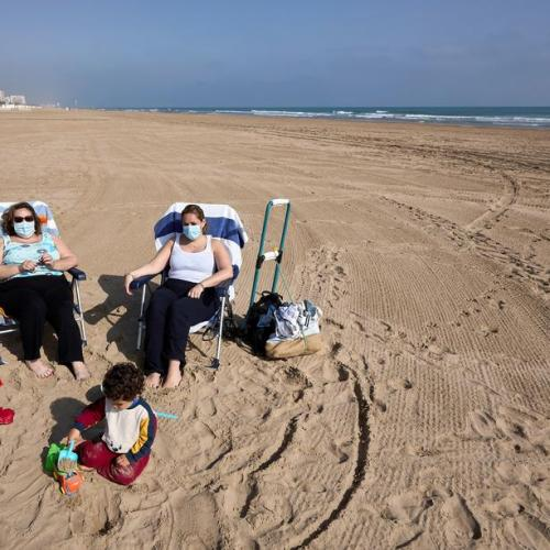 Ruling in Spain that face masks must be worn on beaches amid fears of fourth Covid wave