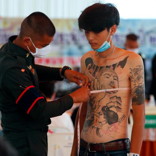 Photo Story – Military conscription draft day in Bangkok