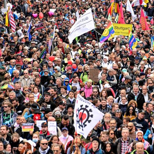 Thousands protest against Covid-19 measures in Germany