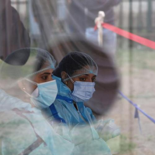 India reports record 115,736 new COVID-19 infections