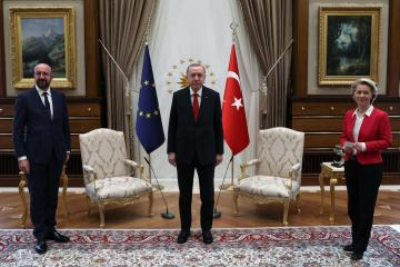 EU's Michel says he's sleeping badly after sofa gaffe in Turkey
