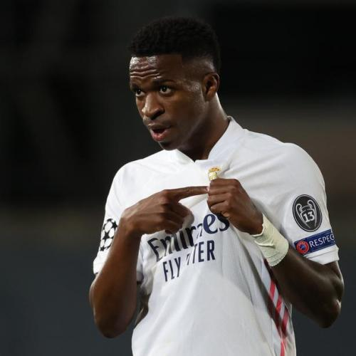 Real Madrid's Vinicius at the double rattles Liverpool