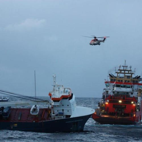 Norway says cargo ship secured, no longer at risk of grounding